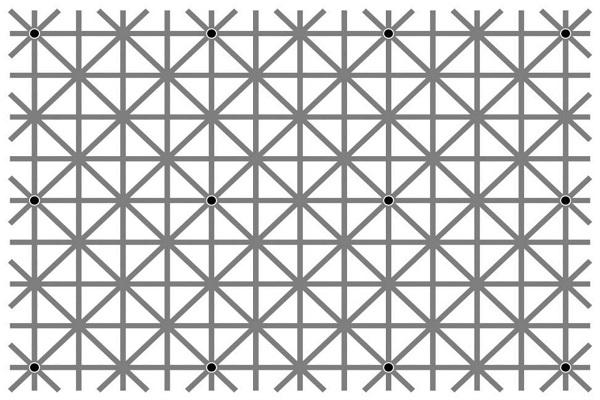 Illusione ottica di Ninio: quanti puntini vedi nella foto?